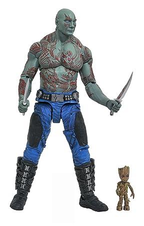 95519abe6468 Marvel Figurine-Select Gardiens de la Galaxie 2 Drax et Baby Groot,  JAN172662,