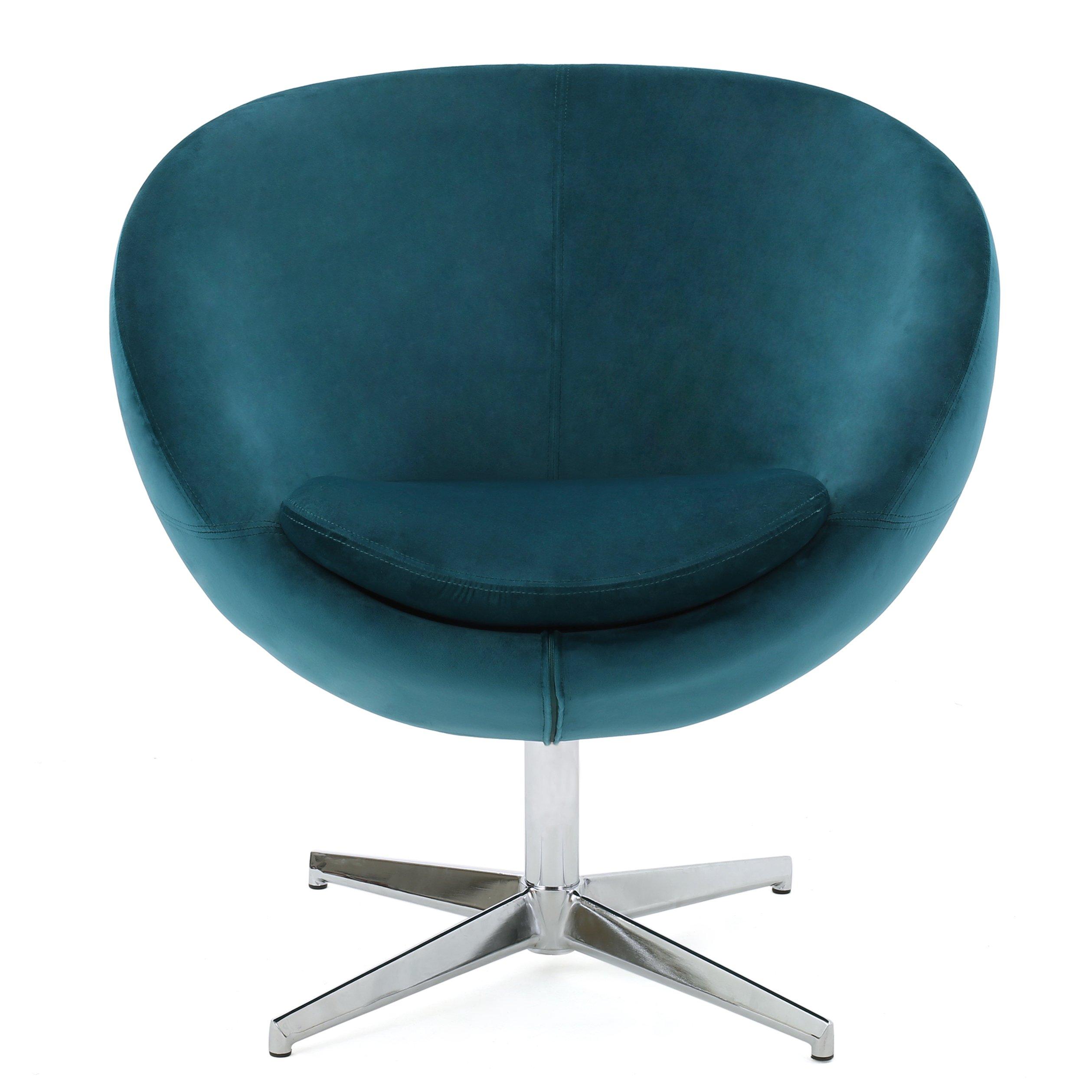 Christopher Knight Home Isla Velvet Modern Chair Dark