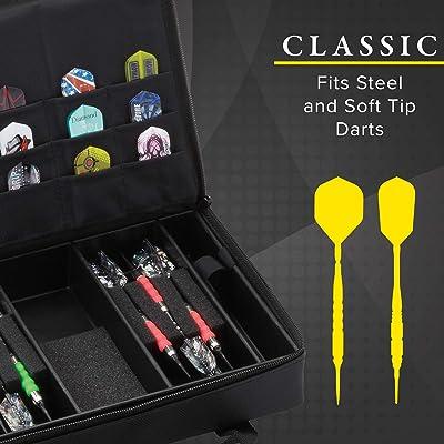 Casemaster Folding Nylon Deluxe Dart//Flights Case Holds 2 Sets Pink
