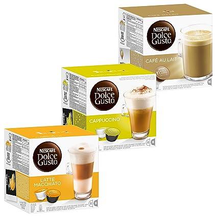 Nescafé Dolce Gusto Crème Kit: Latte Macchiato, Cappuccino, Au Lait, 3 x 16 Capsules
