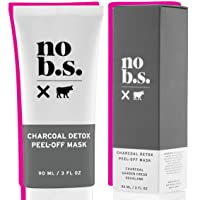 No B.S. Charcoal Peel Off Face Mask - Deep Cleaning Blackhead Remover Mask - Painless...