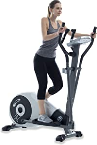 """GOELLIPTICAL V-200T Standard Stride 17"""" Programmable Elliptical Exercise Cross Trainer Machine for Cardio Fitness Strength Conditioning Workout at Home or Gym"""