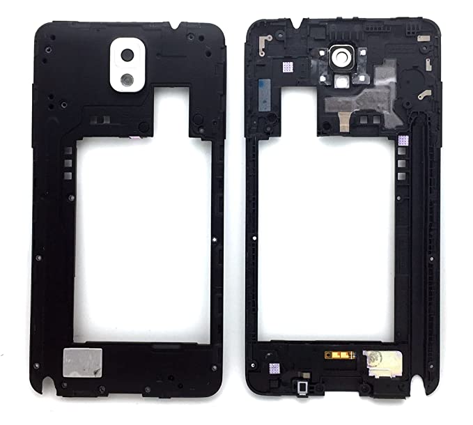 f19540285f55 Image Unavailable. Image not available for. Color  SBOS® Samsung Galaxy  Note 3 N900V N900P Frame Chassis Housing Back Plate Camera Bezel Replacement