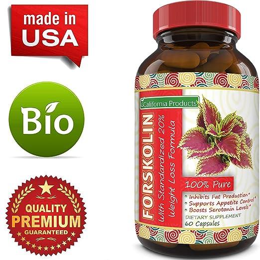 Amazon.com: 100% puro extracto de forskolina 60 cápsulas ...