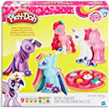 Play-Doh - My Little Pony - Make 'n Style Ponies inc 9 Tubs of Dough & Acc - Creative Kids Toys - Ages 3+