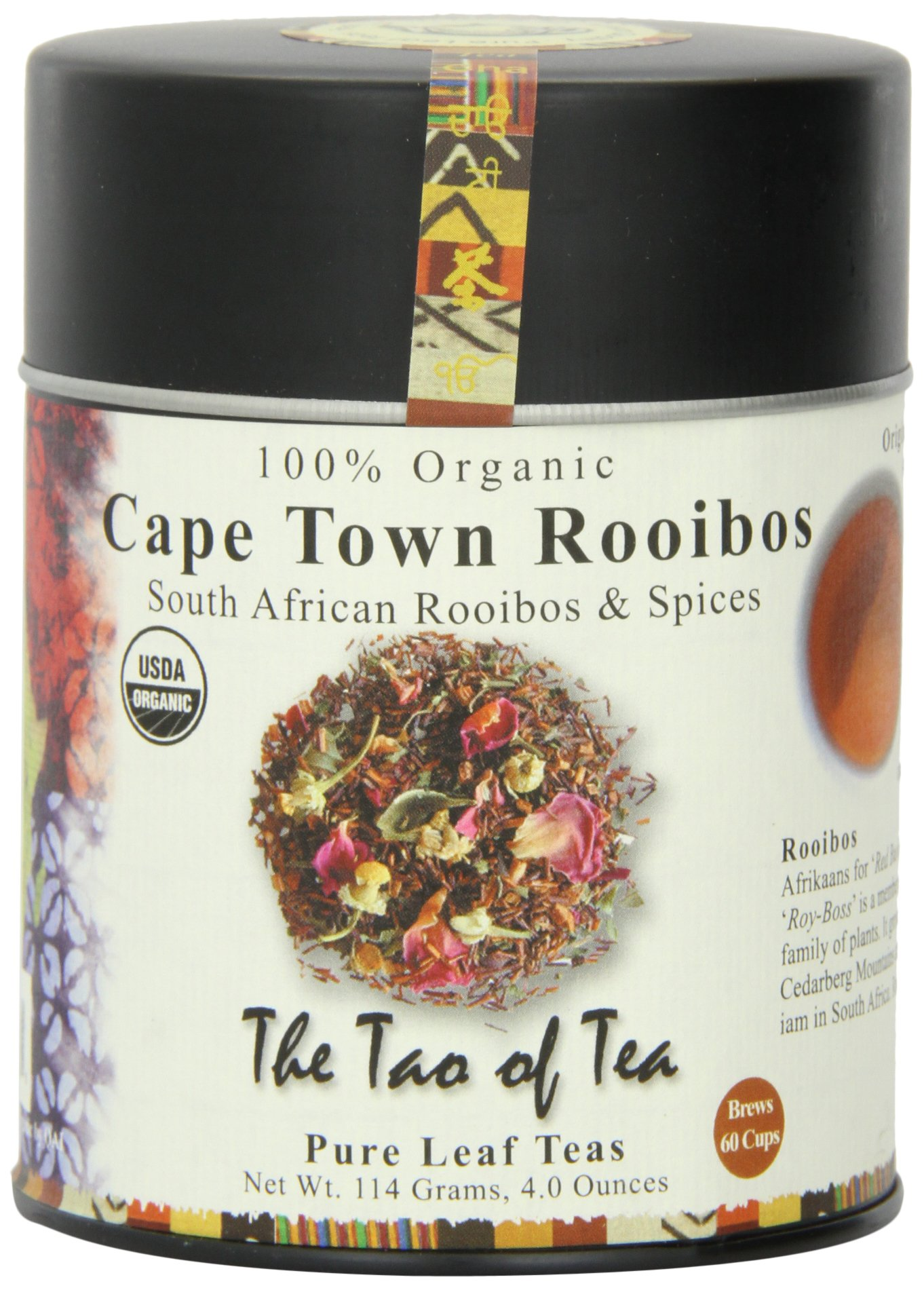 The Tao of Tea, Cape Town Rooibos Tea, Loose Leaf, 4-Ounce Tins (Pack of 3) by The Tao of Tea