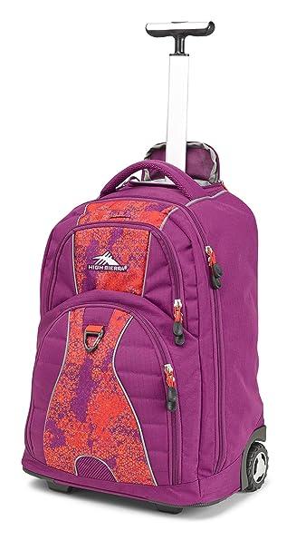 High Sierra Freewheel Laptop Backpack Berry Blast Moroccan Tile Redline