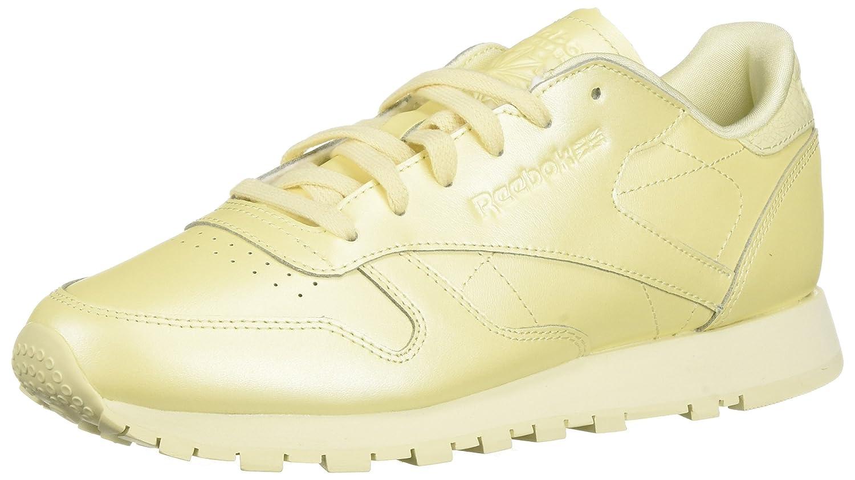 Reebok Women's Classic Leather Sneaker B077ZG2PRD 5.5 B(M) US|Mid-washed Yellow