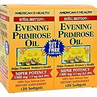 海外直送品American Health Evening Primrose Oil Super Potency, 120+120 Sftgls 1300 MG