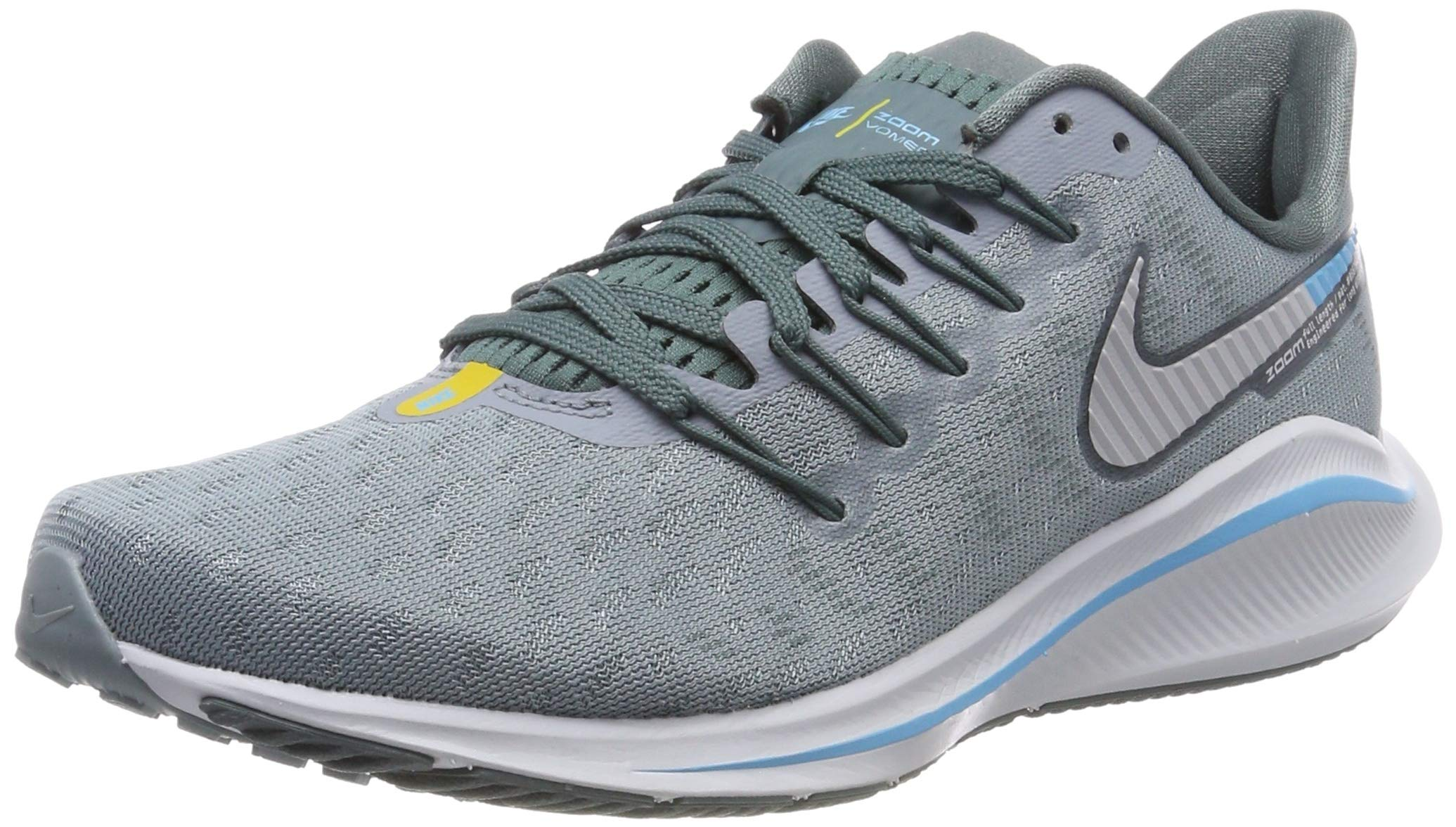 Nike Air Zoom Vomero 14 Sz 7 Mens Running Aviator Grey/Pure Platinum-Blue Fury Shoes by Nike (Image #1)