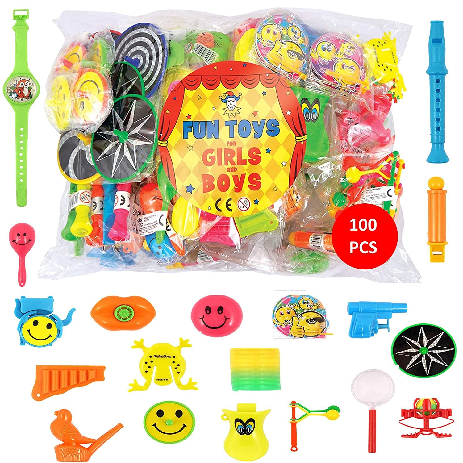 9aaa54cd1877c HENBRANDT BULK BUY Party Bag Toys - 100 Assorted DELUXE Stocking Filler  Toys - Pinata