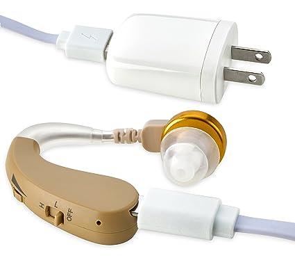 NewEar BTE Amplificador de sonido digital de alta calidad, recargable