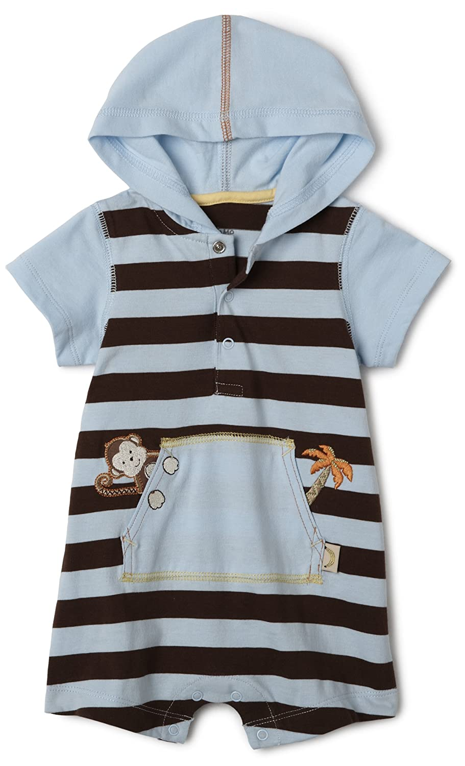 Blue Stripe Little Me Monkey Romper