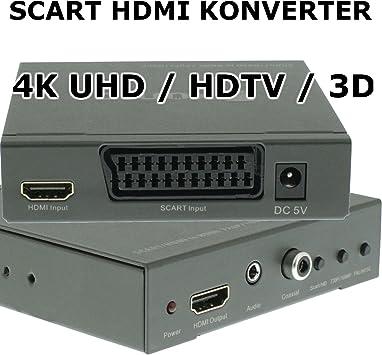 Eurosell – HDMI Entrada konverster Scart a HDMI Salida – Digital Analog corriente adaptador televisor TV: Amazon.es: Electrónica