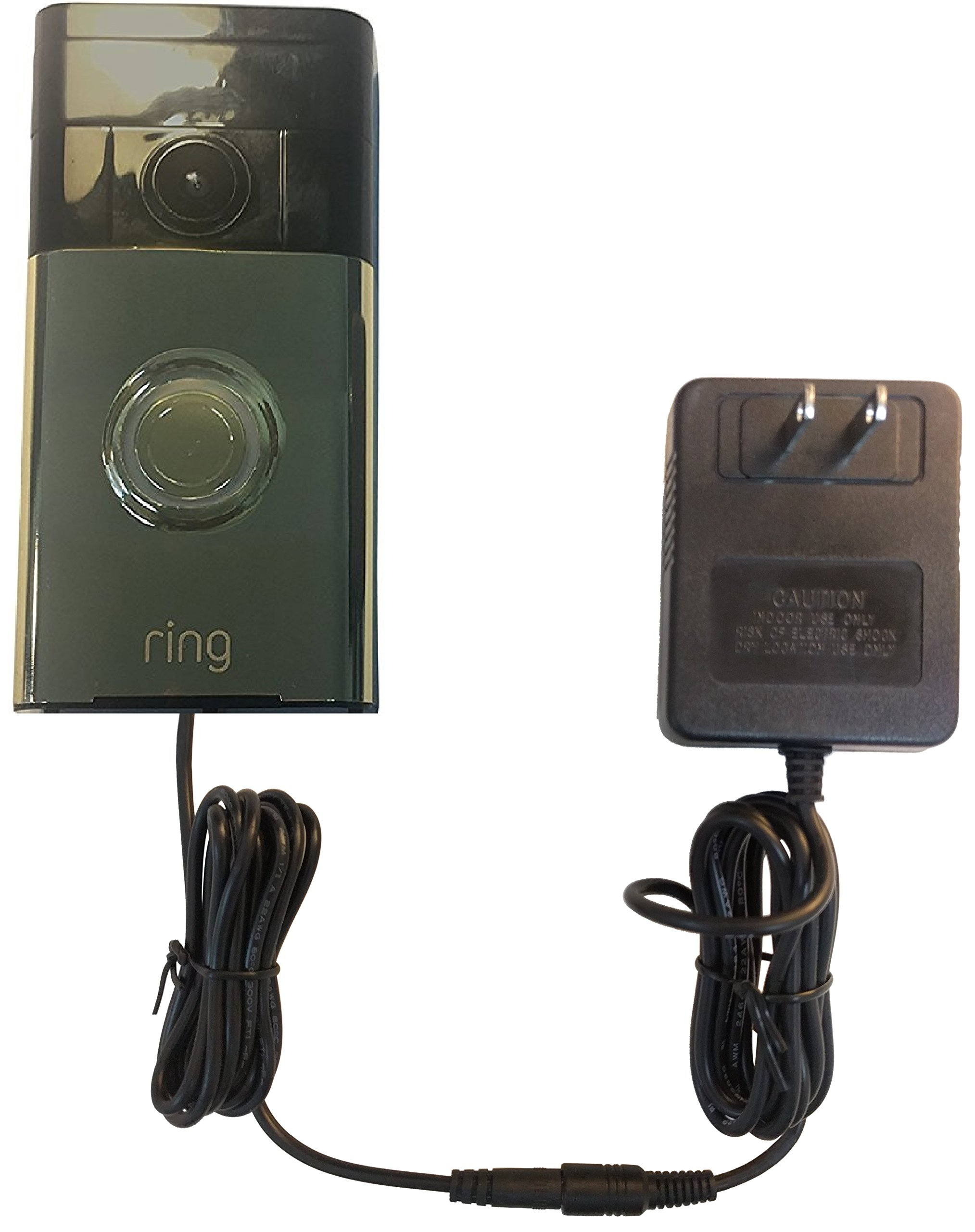 OhmKat Video Doorbell Power Supply - Compatible with Ring Video Doorbell - Needs No Existing Wiring - Battery Charger, Transformer, Adapter, Power Kit & Supply All In One