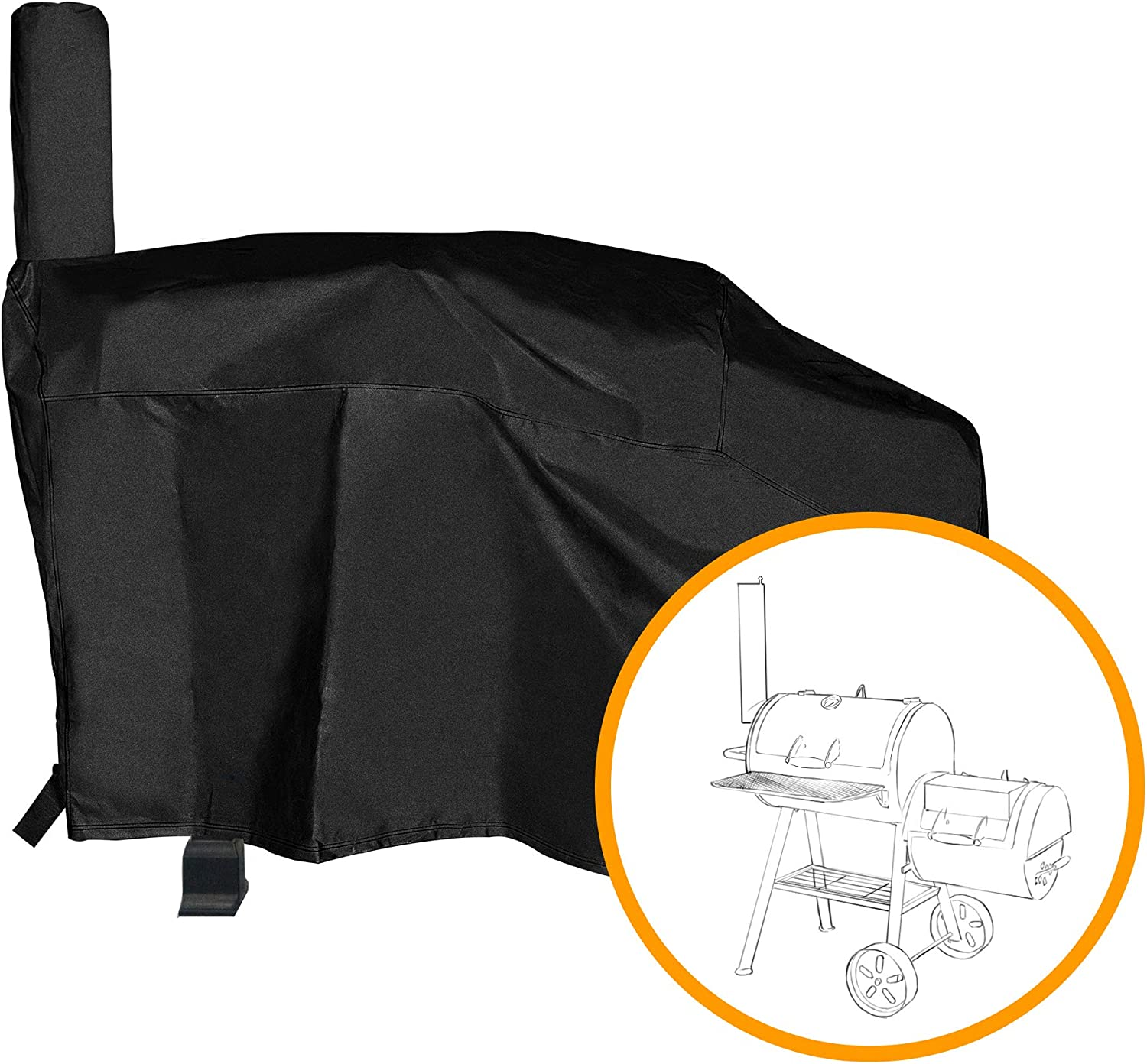 iCOVER 600D Heavy-Duty Premium Classic Outdoor Canvas BBQ Barbecue ...