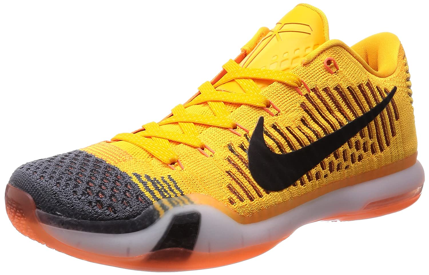 new product 1cae2 52330 ... feet video at exclucity youtube 524dd 60ccd  order best mens nike kobe  x 10 elite low rivalry chester total orange black grey 747212