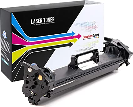 Black,1 Pack SuppliesOutlet Compatible Toner Cartridge for Canon 125