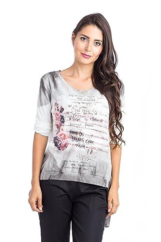 Abbino d16cm16S Camisas Blusas Tops Para Müjer - Hecho EN Italia - 5 Colores - Verano Otoño Invierno...