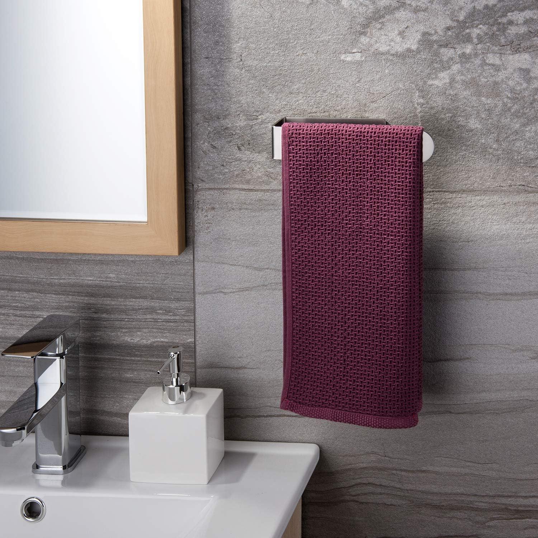 Self Adhesive Towel Ring Stainless Steel Hand Towel Holder for Bathroom ZUNTO Towel Holder//Hand Towel Rail