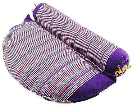 SAPURA® Rollo 2 in1 | – Cojín de meditación | Yoga Bolster con Relleno de alforfón | Cojín de Yoga, Pilates Bolster, Cuello Rollo