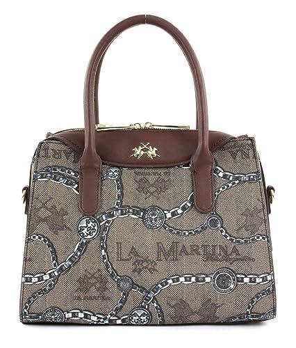 40f1870b5d LA MARTINA Reconquista Lady Two Handle Bag Incense/Bison / Chain ...
