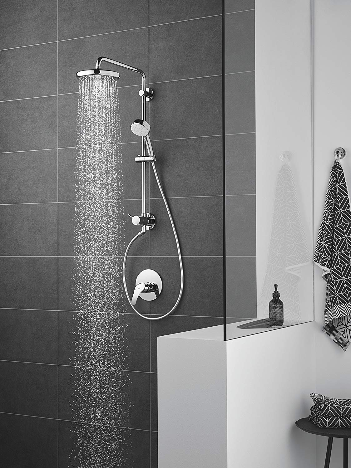 GROHE Ensemble douche de t/ête Tempesta 210 26412000 Chrome