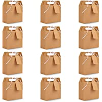 Belle Vous Bruin Hobby Feest Snoep Geschenk Doosjes met Labels (20 Pak) - 16 x 14,7 x 6,5cm – Blanke Loot Goodiebags…