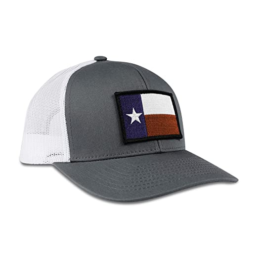 7ffba0ece5e Image Unavailable. Image not available for. Color  Haka Hat Texas State Flag  Patch Baseball Cap - Gray White Trucker ...