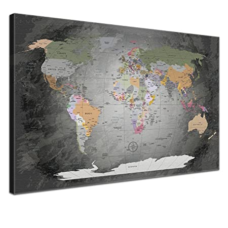 Lana kk world map with cork for pinning destinations worldmap lana kk world map with cork for pinning destinations worldmap noble gray gumiabroncs Gallery