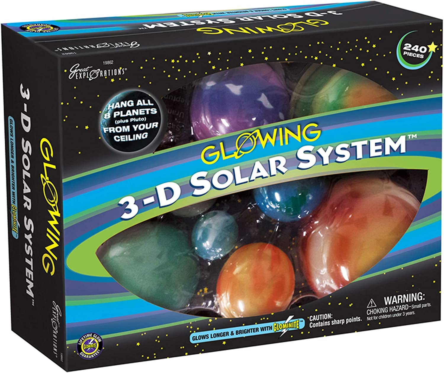 B000066HSN Great Explorations 3-D Solar System Glow In The Dark Ceiling Hanging Kit 3D Planets and Star Stickers Create the Milky Way Teach Science STEM, Multicolor (UG-19862) 81h9alpS0dL