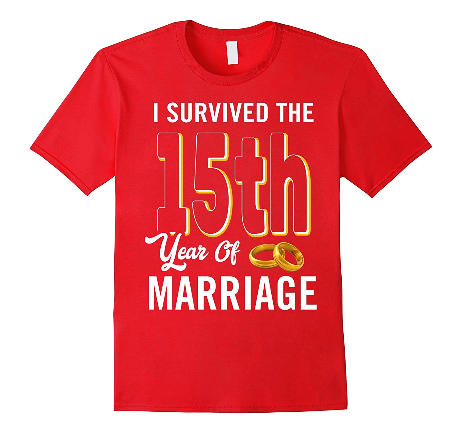 15th Anniversary Shirt I Survived The 15th Year Of Marriage