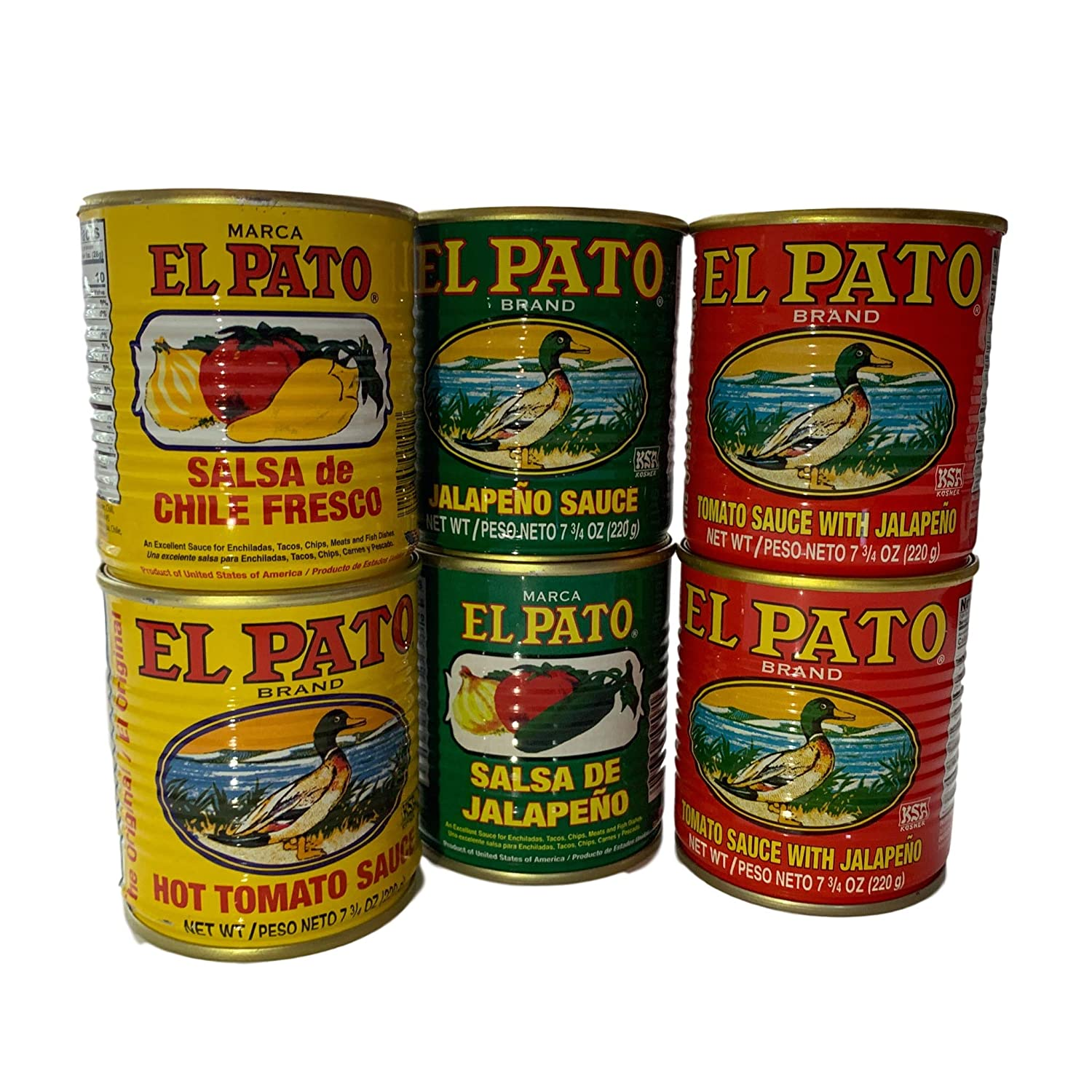 El Pato Assorted Sauce Pack! 2 Each All 3 Flavors Included! Now Your Meal Tastes Authentic!