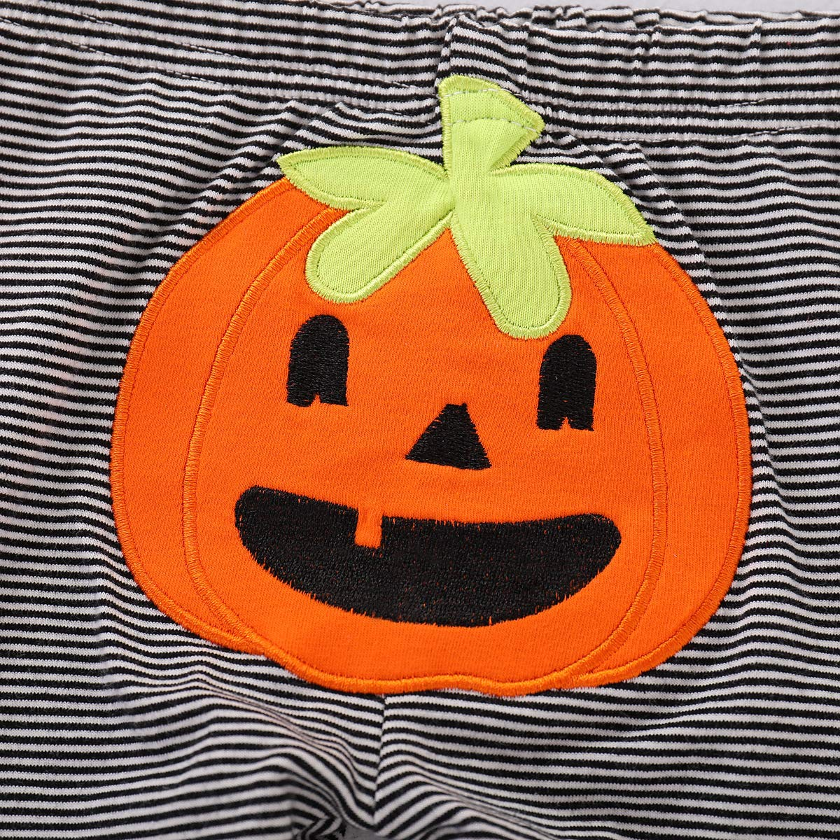 OneCut 3 in 1 Halloween Costumes Pumpkin Pants Long Sleeve Outfits Set Baby Boys Girls Clothes