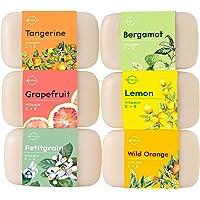 Top 6 Vitamin Citrus Bar Soap Collection. Vegan Body Soap. Organic Ingredients. Acne Face Cleanser Vitamin C Soap…