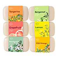 O Naturals 6 Pc Citrus Bar Soap Collection. Vegan Body & Hand Soap. Organic ingredients...