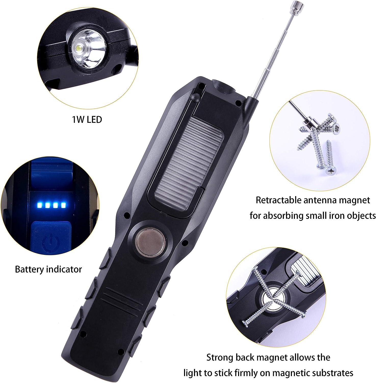 Htbakoi Werkstattlampe Led Akku Magnet Lampe Werkstatt Akku Leuchte Led Handlampe Arbeitsleuchte Taschenlampe Werkstatt Mit Magnet Auto