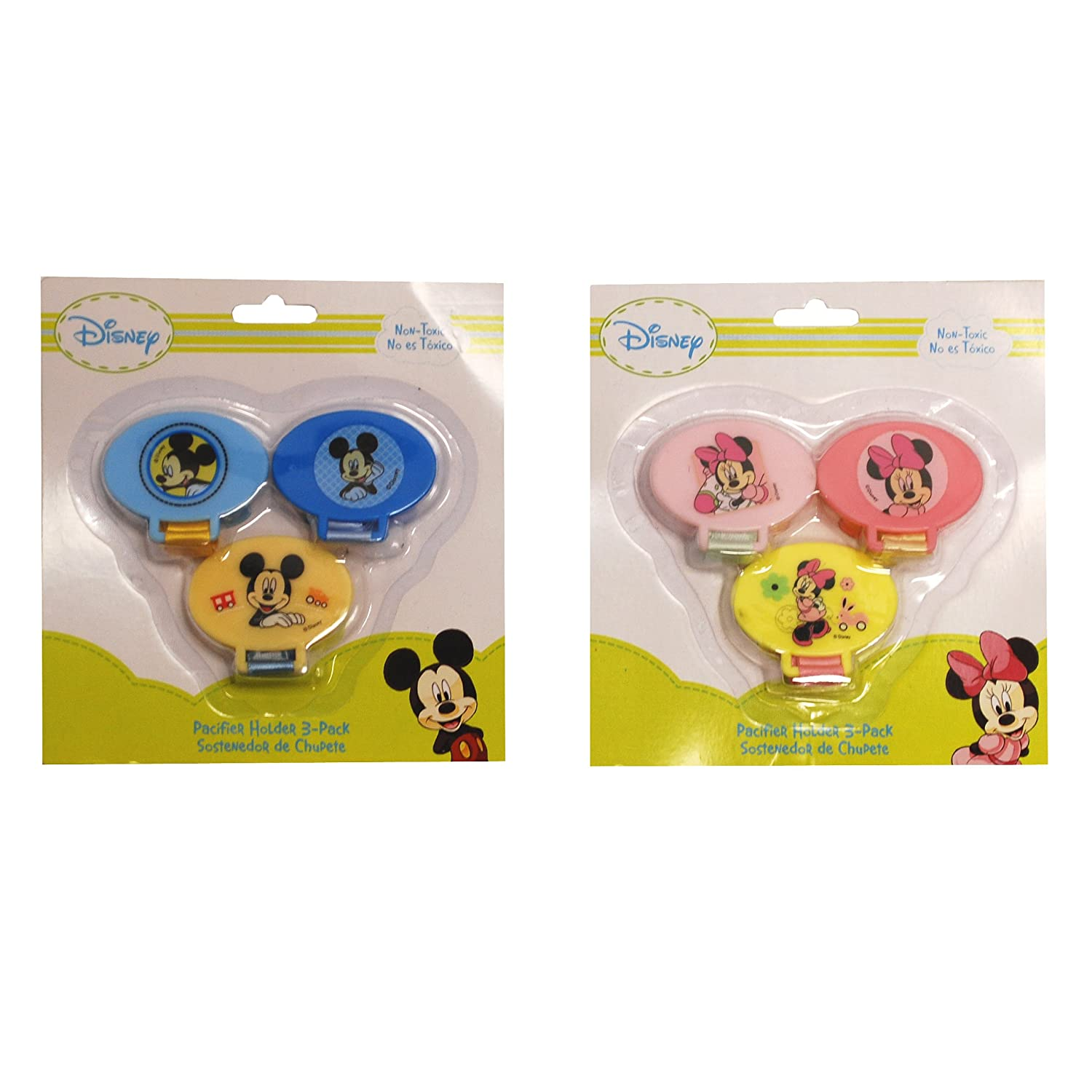 Amazon.com : Disney Mickey Mouse Pacifier Holder 3 Pack ...