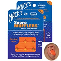 Mack's Pillow Soft Silicone Putty Ear Plugs 6 Pairs Value Pack