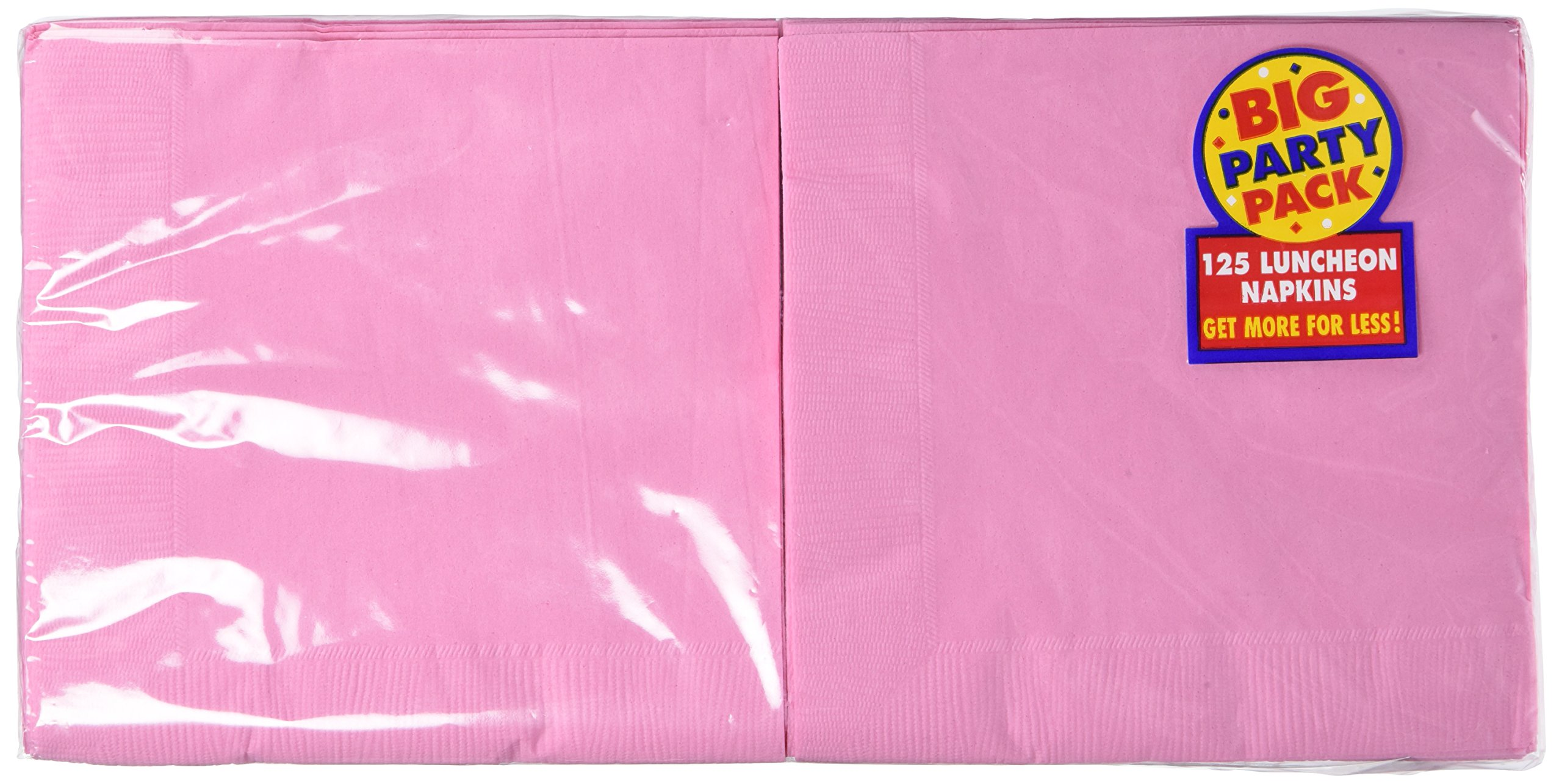 Amscan Big Party Pack 125 Count Luncheon Napkins New Pink 4