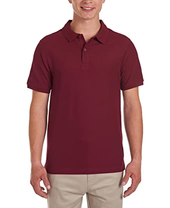 Nautica Young Mens Uniform Short Sleeve Stretch Pique Polo ...