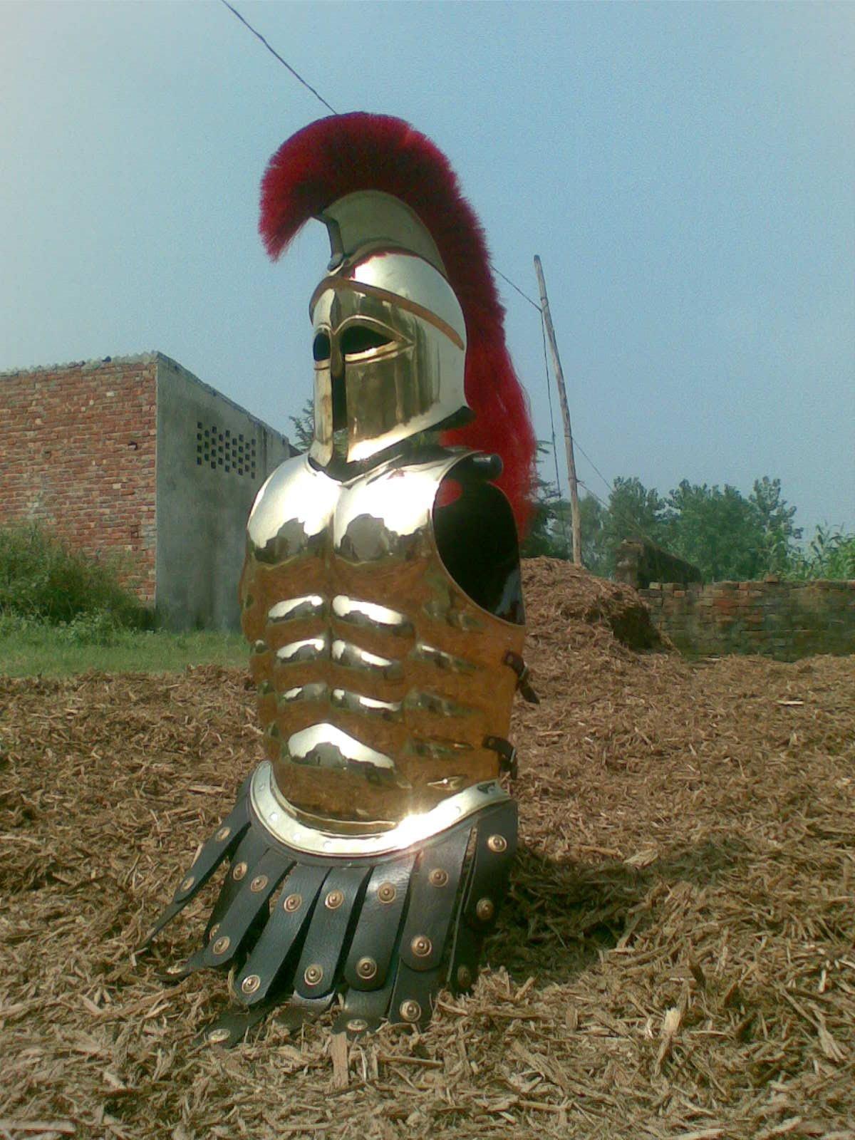 NAUTICALMART Armor Halloween Costume Wearable Muscle Armor with Corinthian Helmet