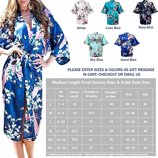 9a4198bef3ffc Floral Bridal Party Bride & Bridesmaid Robe Sets, Sizes 2 to 20