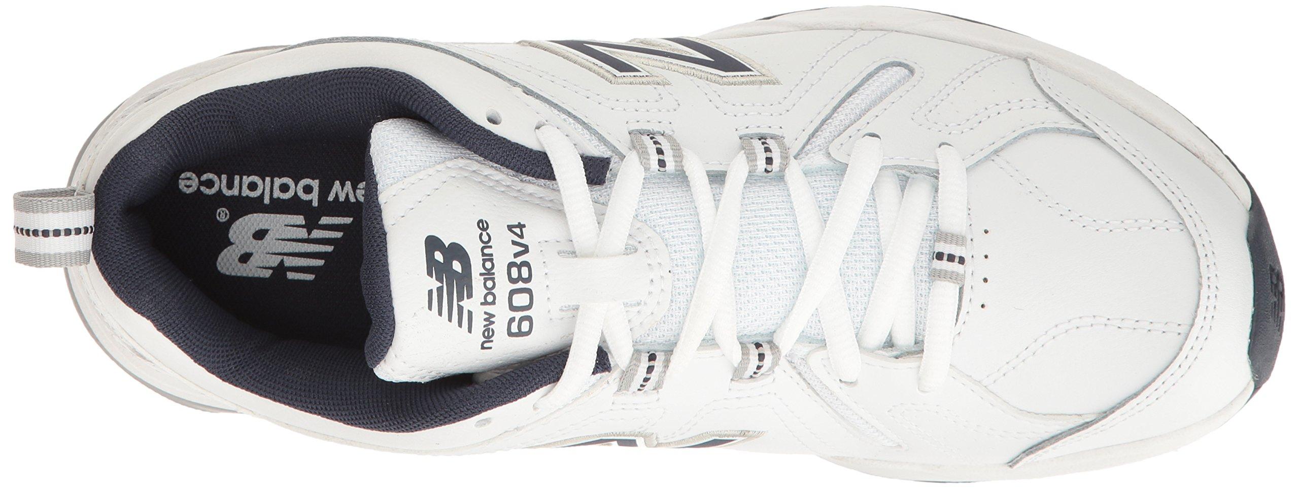 New Balance Men's MX608v4 Training Shoe, White/Navy, 7.5 4E US by New Balance (Image #8)