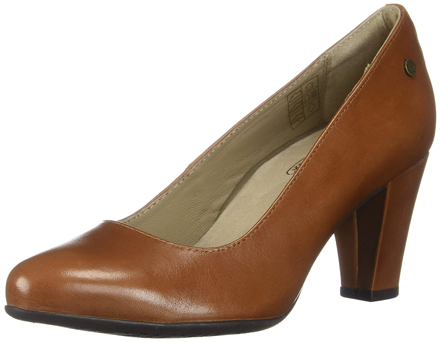 Tan Leather Hush Puppies Womens Minam Meaghan Pump