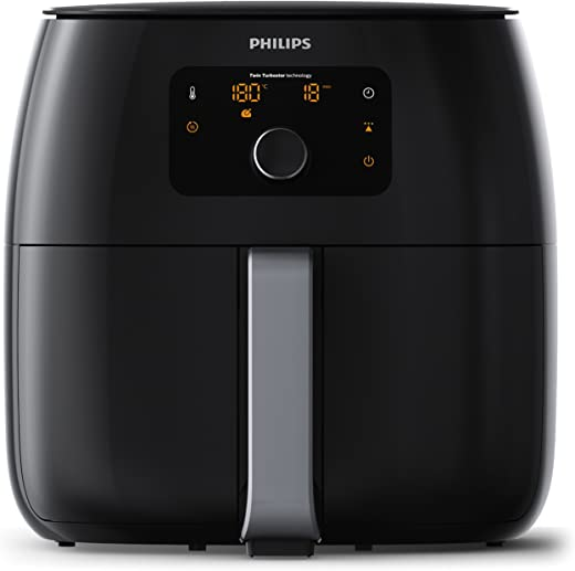 Philips Airfryer XXL - 1400 g friet- 5 tot 6 personen -tot 90% minder vet- multifunctioneel - 5 bakprogramma's - vaatwasmachinebestendig - Warmhoudmodus - incl. ingrediëntenscheider - HD9652/90