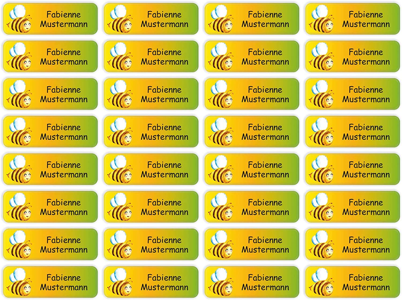 4,8 x 1,6 cm Sunnywall/® scuole e asili Adesivi per nome 60 pezzi 38 motivi a scelta 60 pezzi 02 polizia per bambini