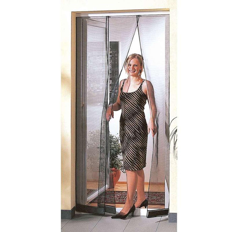 Aubry Gaspard Moustiquaire/Rideau de Porte avec 4 Panneaux 1 x 2, 20 m Provence Outillage 39179910712