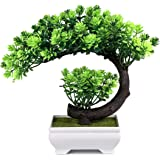 Small Artificial Plants Bonsai Tree Fake Plants Room Decor for Bedroom Aesthetic, Entryway Chests Drawers, Bookcase Bathroom