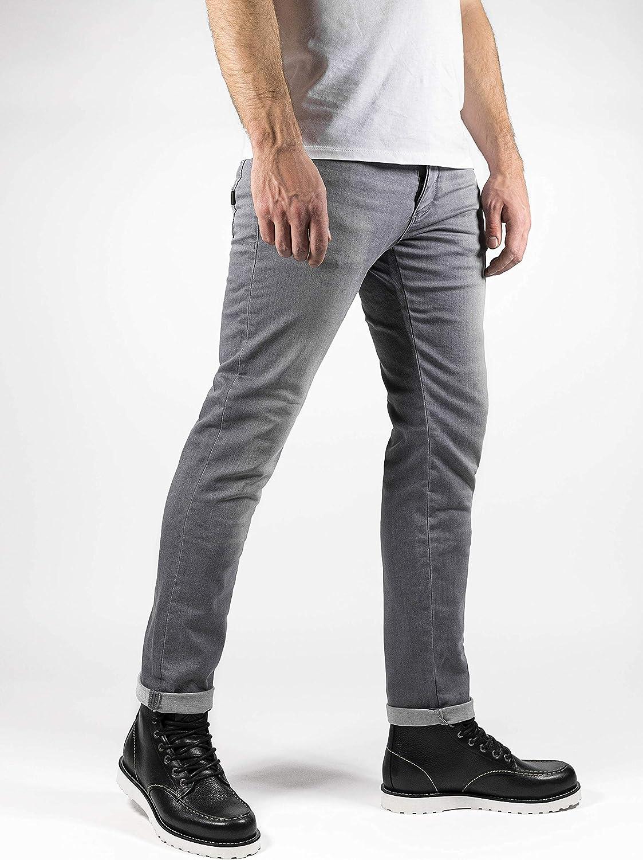 Used Light Grey John Doe Ironehead XTM Atmungsaktiv Denim Jeans mit Stretch Motorradhose mit Kevlar Einsetzbare Protektoren Motorrad Jeans